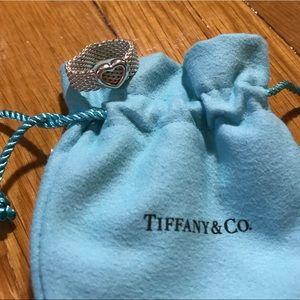 Tiffany & Co. Somerset Mesh Heart Ring Sz 8